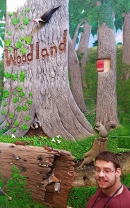 The indoor mural doesn't feel quite the same as being out in the woods